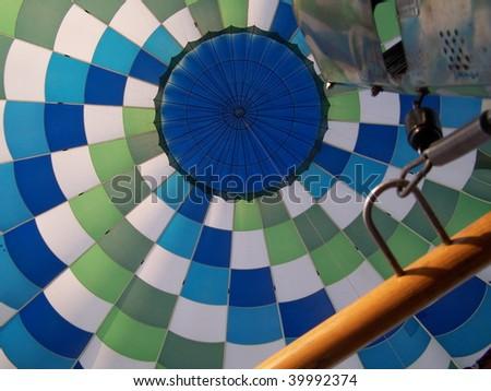 inside hot air balloon - stock photo