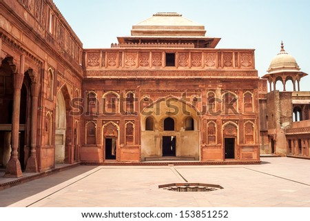 Inside in Agra Fort - Courtyard