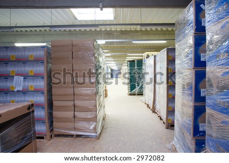 inside of a Warehouse_2 - stock photo
