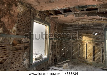 inside of an abandoned house