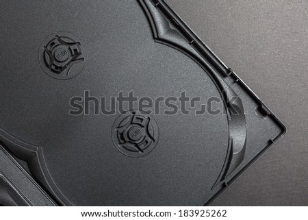 Inside of DVD or CD case  - stock photo