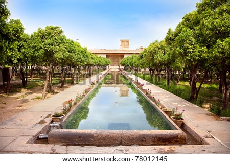 Inside of  Karmin Khan citadel in the city center of Shiraz, Iran - stock photo