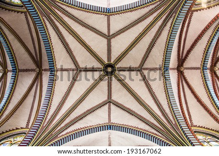Inside of Saint mary cathedral. Yangon. Myanmar. - stock photo
