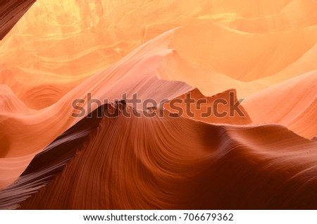 Inside of the Antelope Canyon