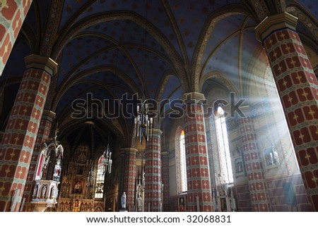 Inside of the Church - stock photo