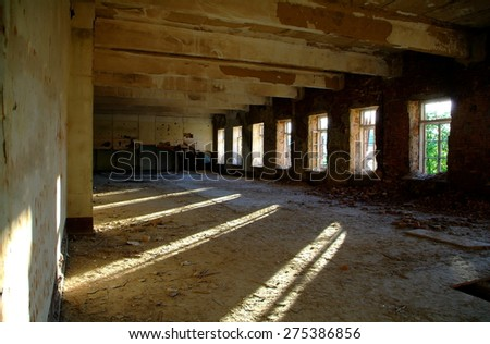 Inside old building. Poltava. Ukraine. - stock photo