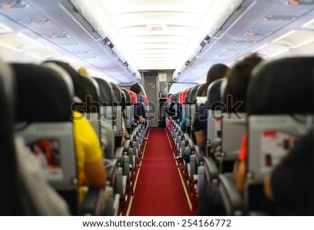 Inside plane - stock photo