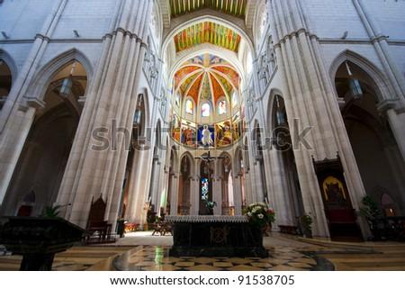 Inside the church - stock photo