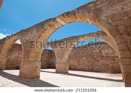 Inside the Fortezza of Rethymno. Greece.