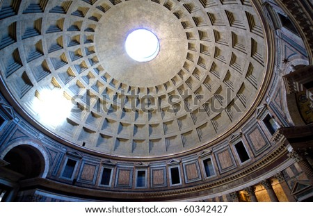 inside the Pantheon, Rome, Italy