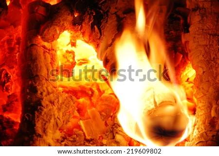 insight into the kiln - stock photo