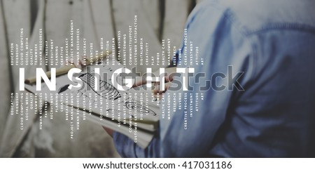 Insight Intuition Meditation Mindful Perception Concept - stock photo