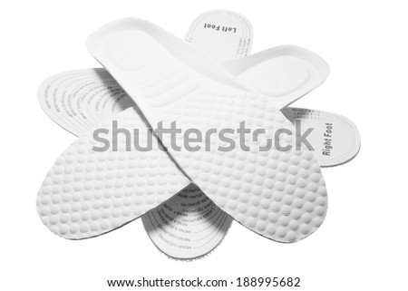 Insoles on White Background - stock photo