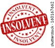 insolvent grunge red round stamp - stock photo