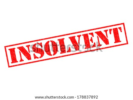 INSOLVENT red Rubber Stamp over a white background. - stock photo