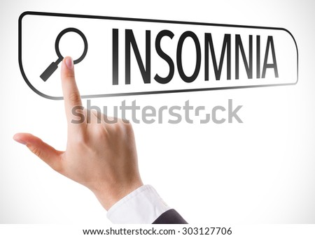 Insomnia written in search bar on virtual screen - stock photo