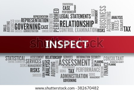 INSPECT | Business Abstract Concept - stock photo