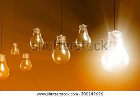 Inspiration Concept of an Idea or Goal Art - stock photo