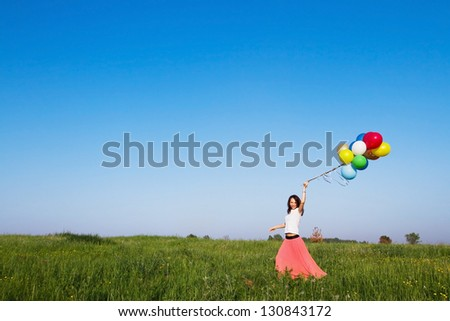 inspiration, picture about holidays or dreams, smiling woman
