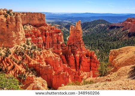 Inspiration Point, Bryce Canyon National Park - Utah - stock photo