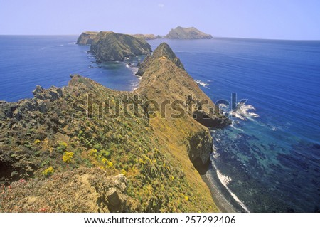 Inspiration Point on Anacapa Island, Channel Islands National Park, California - stock photo