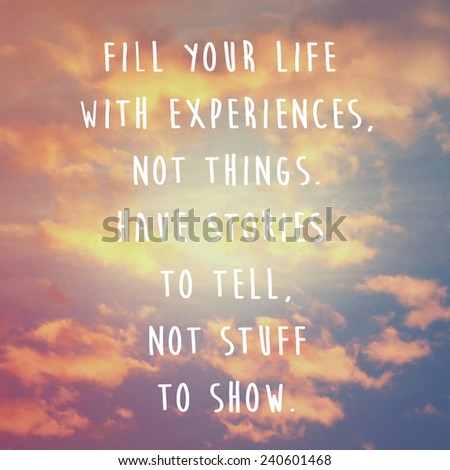 Cloud Quotes Endearing Inspirational Motivation Quote On Cloud Sky Stock Illustration