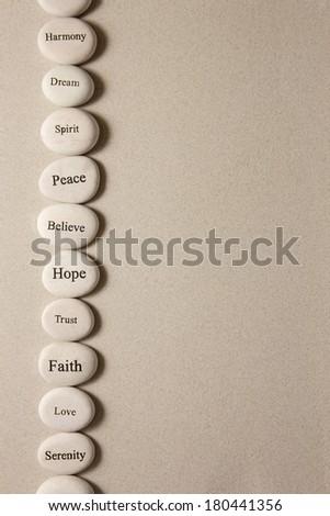 Inspirational stones - stock photo