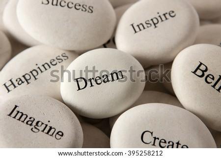 Inspirational stones - Dream - stock photo