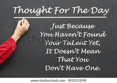 Inspirational Thought For The Day Fascinating Inspirational Thought Day Message Just Because Stock Photo