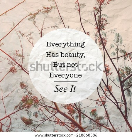 Inspirational typographic quote on crumpled image with retro filter effect - stock photo