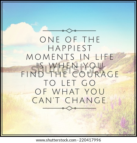 Inspirational Typographic Quote - One of the happiest moments in life - stock photo