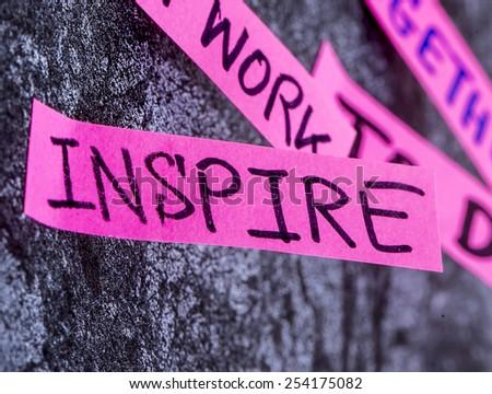 inspire team work vision  - stock photo