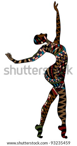inspired by the person performs a beautiful dance - stock photo