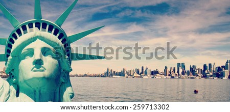 instagram  beautiful tourism travel concept for new york city  - stock photo