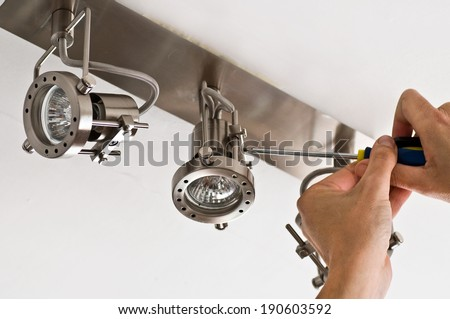 installation light - stock photo