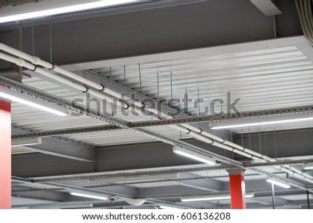 Installation lighting fixtures suspended ceiling lighting stock installation of lighting fixtures suspended ceiling and lighting equipment aloadofball Choice Image