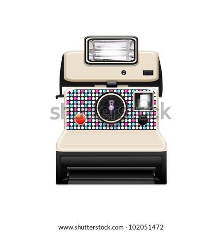 instant camera - stock photo