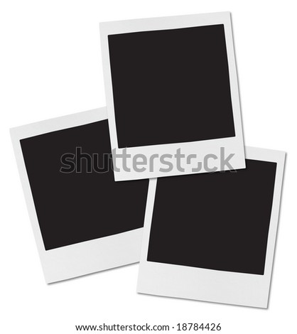 Instant Camera Frames with fine paper texture. - stock photo