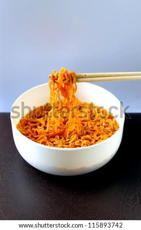 Instant noodles - stock photo