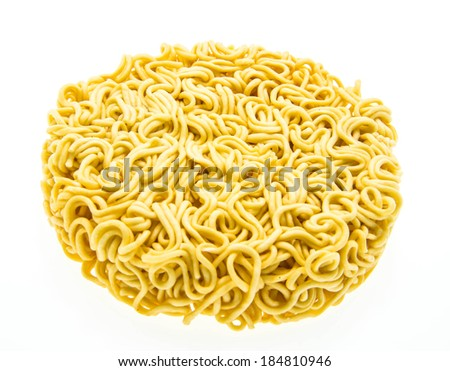 Instant noodles isolated on white