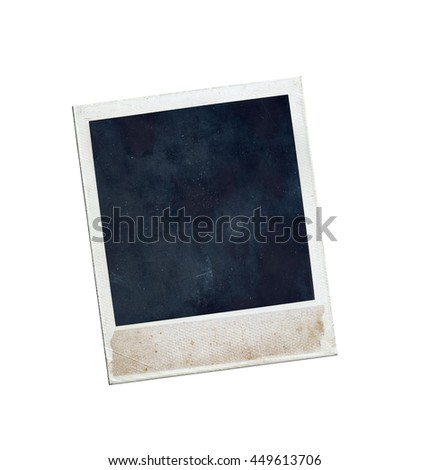 instant photo frame isolated on white