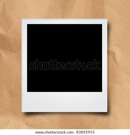 instant  photo frames on brown recycle paper - stock photo