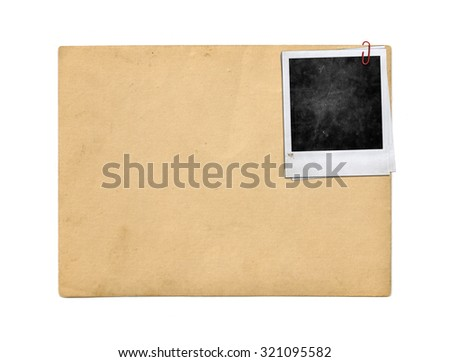 Instant photo. Polaroid photo frame - stock photo