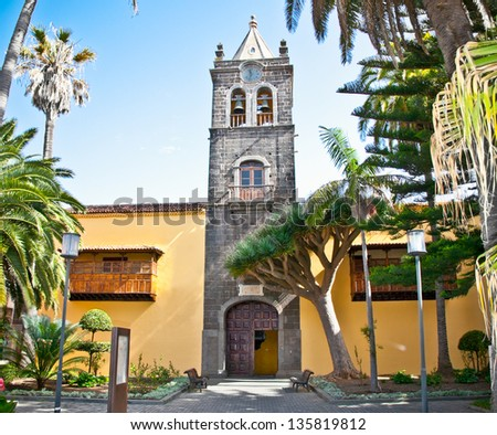 Instituto de Canarias in San Cristobal de la Laguna, Tenerife, Canary Islands. Spain. - stock photo