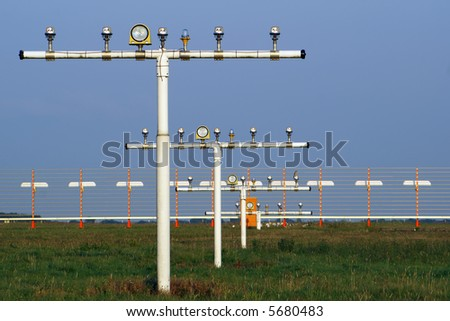 Instrument landing system - stock photo