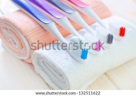 instruments for oral hygiene - stock photo