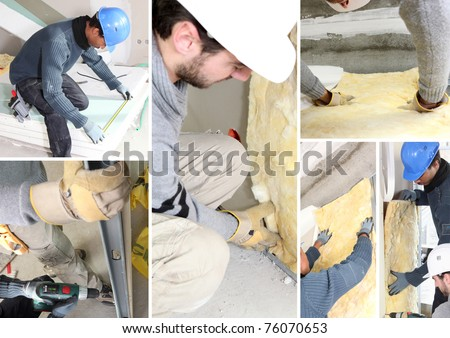 Insulating mosaic - stock photo