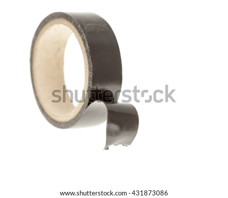 insulating tape on white background