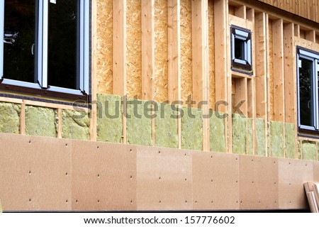 insulation blocks - stock photo