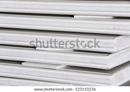 Insulation board for thermal prevention - stock photo